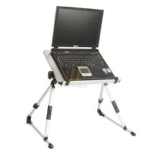 Durable Notebook Laptop Desk Stand Bed Table Folding Foldable Adjust USB Cooling