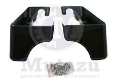 "Mutazu Vivid Black 4"" Extensions Fits 94-2013 Harley Touring Saddlebag FLH FLT"