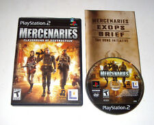 Mercenaries Playground Of Destruction Playstation 2 PS2 Game 2005 Complete Black