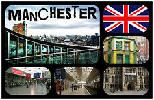 MANCHESTER, UK - SOUVENIR NOVELTY FRIDGE MAGNET - NEW - GIFT / XMAS / B/DAY