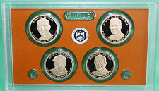 2015 Presidential $1 Coin Proof Set 4 Golden Dollars COIN ONLY in Acrylic Holder