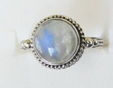 Rainbow Moonstone Ring in Sterling Silver sz 7.75