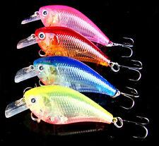 New 4pcs Lot Crank Bait Fishing Lures Bass CrankBait Tackle 6# Hooks 9.4g/6.8cm