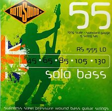 Rotosound RS555LD Solo BASS Guitar Strings (45-130) 5 string set