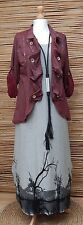 LAGENLOOK*SOFT COTTON MIX AMAZING BEAUTIFUL QUIRKY JACKET*MAROON* SIZE L-XL