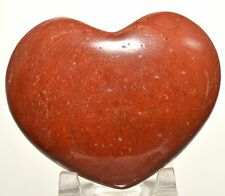 "3"" Brecciated Red Jasper Puffy Heart Crystal Quartz Mineral Palm Stone - India"