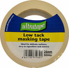 Ultratape - Low Tack Masking Tape - DIY Painting - Various Sizes 25 & 50mm