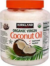 1x Kirkland Organic Virgin Coconut Oil Unrefined Cold Pressed Chemical Free 84oz