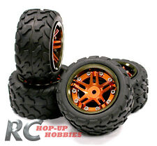 1/16 Traxxas E-Revo Slash Summit 4 Aluminum Wheel Rims + Tire Integy T3528ORANGE
