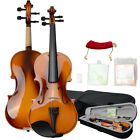 New 1/2 Size Coffee Color Basswood Violin Fiddle with Case Bow Rosin Set