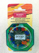 """Bohin France - 50 Quilters Flower Head Pins 2"""" Long - 26661"""