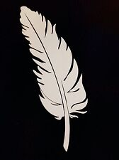 """2X Native American Indian Bird Feather funny Die Cut Vinyl Decal Stickers  6"""""""