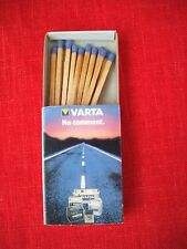 vintage 1970's  COLLECTIBLE  MATCHES  BOX  VARTA BATTERIES GERMANY