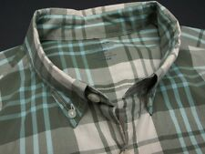 J CREW Lightweight Cotton Pale Green Check Mens Casual Dress Shirt - L