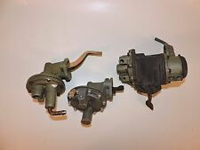 Lot of 3 antique fuel pumps one nos AC with vacuum wipers