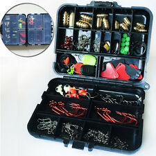 127pcs 20 Kinds Bait Value Pack Kit Fishing Tackle Lure Accessories Set with Box