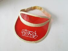 Rare Vintage DICK TRACY Orange Stretch Sun Visor Old School Hat Cap Taiwan