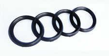 Audi Rings Matte Black Grill Front A3 S3 A4 S4 RS4 A5 S5 A6 S6 TT Badge Emblem