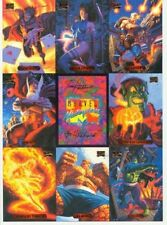 Collectible 1994 Marvel Masterpieces Uncut Promo Trading Card Sheets. Lot of 5