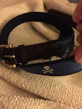NWT VINEYARD Vines Skull And Bones Canvas/ Leather Men's Belt Size 34