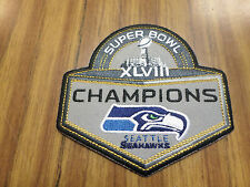 "NFL SEATTLE SEAHAWKS SUPER BOWL XLVIII CHAMPIONS IRON ON PATCH 4"" X 4"""