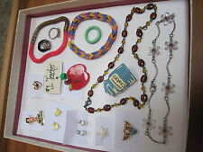 VINTAGE /RETRO COSTUME JEWELRY LOT FUN SELECTION OF CHOICES FOR YOUTHS - 2237