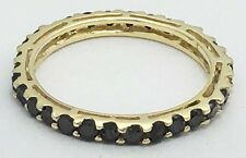 ETERNITY 1.06 cts BLACK DIAMONDS 10k Yellow Gold Ring *COMES WITH FREE APPRAISAL