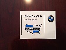 Official Bmw CCA Car Club of America Window Sticker Decal Display
