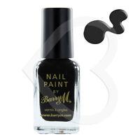 Barry M Nail Paint - Jet Black Nail Varnish/Polish - Shade 47 Black