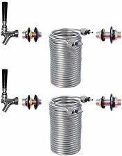 Build Your Kegerator Beer Jockey Box keg Double Faucet Draw 70' Coil Cooler Kit