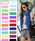 2015 Hot Womens Pure Candy Long Crinkle Soft Scarf Wrap Voile Wraps Stole Shawl