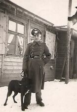 WWII German Army RP- Soldier- Overcoat- Snow- Dog- Mascot- German Sheppard Mix
