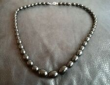 Black beaded long necklace (neck 179)