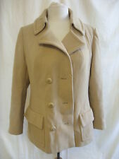 Ladies Coat - Madox, size M, camel, vintage, some marks/worn area, 70's - 7017