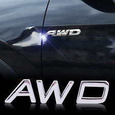 3D AWD Badge Emblem Sticker Decal Fits Car Auto Wheel Drive SUV Off Road Jeep
