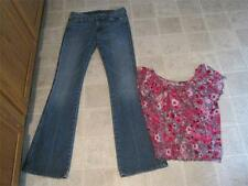7 For All Mankind sz 27 A Pocket bootcut jeans & Body Central top M lot j77