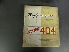 Raygo Self-Propelled Vibrating Roller Model Rustler 404 Operation,Main,Parts Man