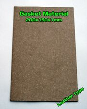 Gasket Leather type Material Sheet 20x15cm 1mm Oil Fuel Resistant
