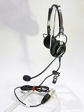 BNIB TELEX AIRMAN 750 HEADSET for AIRBUS 64300-205  FULL WARRANTY  PRIORITY MAIL