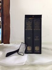 The Compact Edition of The Oxford English Dictionary 2 Volume Set with Magnifier