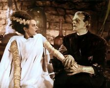 "ELSA LANCHESTER BORIS KARLOFF BRIDE OF FRANKENSTEIN 4x6"" HAND COLOR TINTED PHOTO"