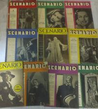 SCENARIO - LOTTO DI 10 RIVISTE - Anno 1942