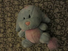 "Neopets Striped Kacheek Light Blue Pink Plush 2003 10"" tall 70043"