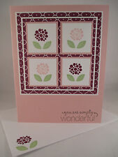 "Stampin Up ""Bright Blossoms"" Handmade You Are Simply Wonderful Card"