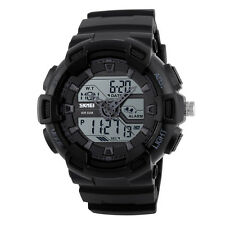 SKMEI Men Analog Digital Date Sports Rubber Quartz Wrist Watch Alarm Waterproof