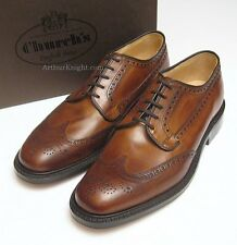 *NEW* CHURCH SHOES Mens Brown Country Brogues Leather Sole Brookland Size UK 9 G