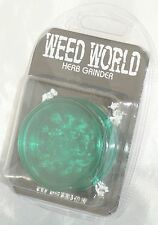 Original Weed World [ With storage compartment ] Herb grinder, Colour: GREEN