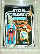 Vintage Star Wars 1978 AFA 80 LUKE SKYWALKER X-WING PILOT ANH 20 Back-G MOC CLR!