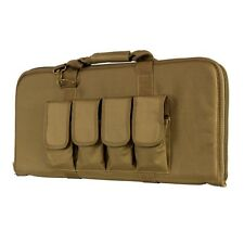 "NcStar Vism CVCP2960T TAN 28"" Padded Lockable Subgun Rifle Gun Case Mag Pouch"