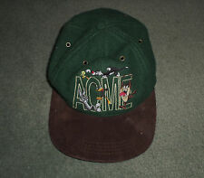 Men's Vintage Green, Multi-Color LOONEY TUNES ACME Embroidered Hat, Snap Strap